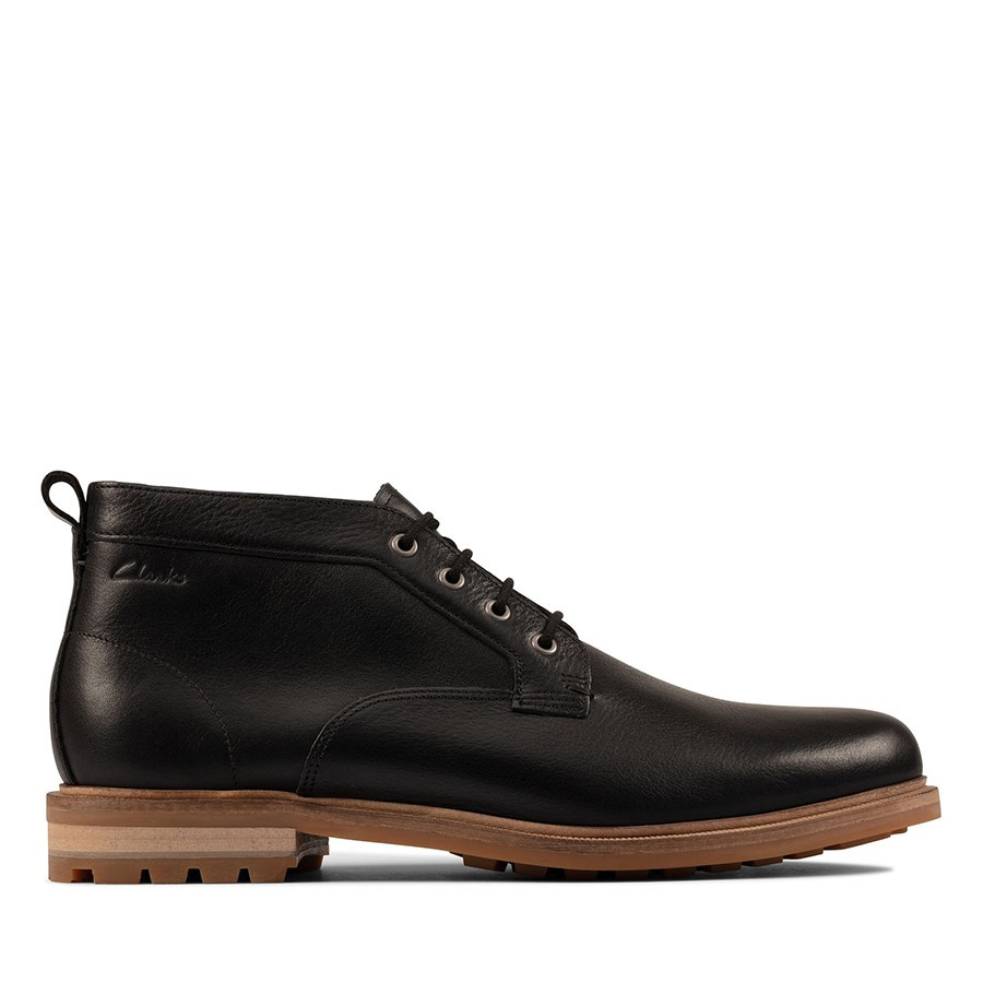 Clarks Foxwell Mid Black Leather