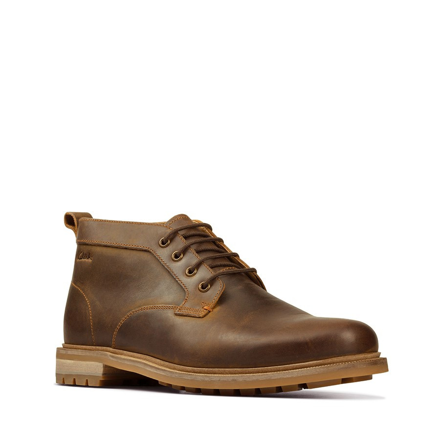 Clarks Foxwell Mid Beeswax Leather