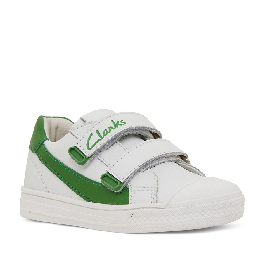Clarks Echo Jnr White/Green