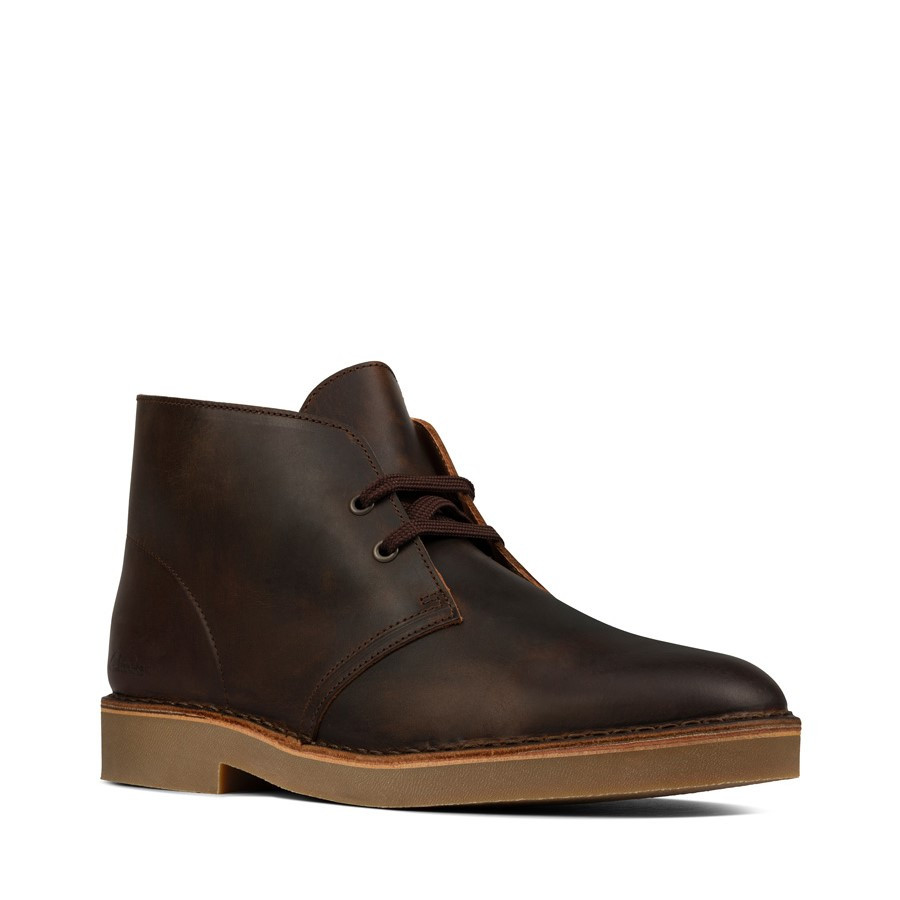 Clarks Desertboot Comfort Mens Beeswax Leather