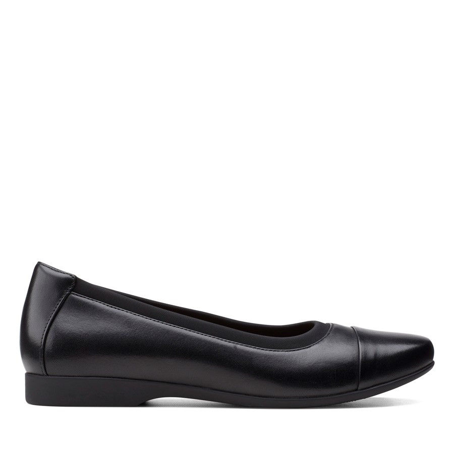 Clarks Un Darcey Cap2 Black Leather