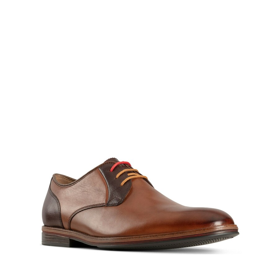 Clarks Citistride Lace Tan Combo