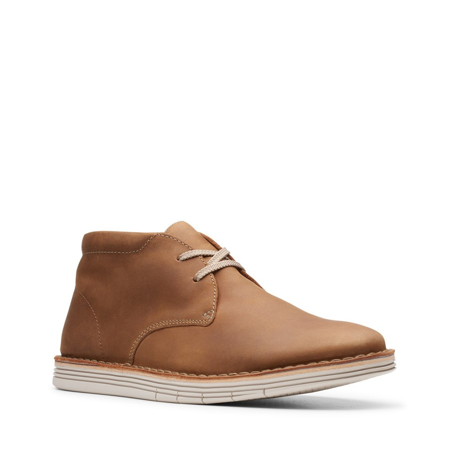 Clarks Forge Stride Tan Leather