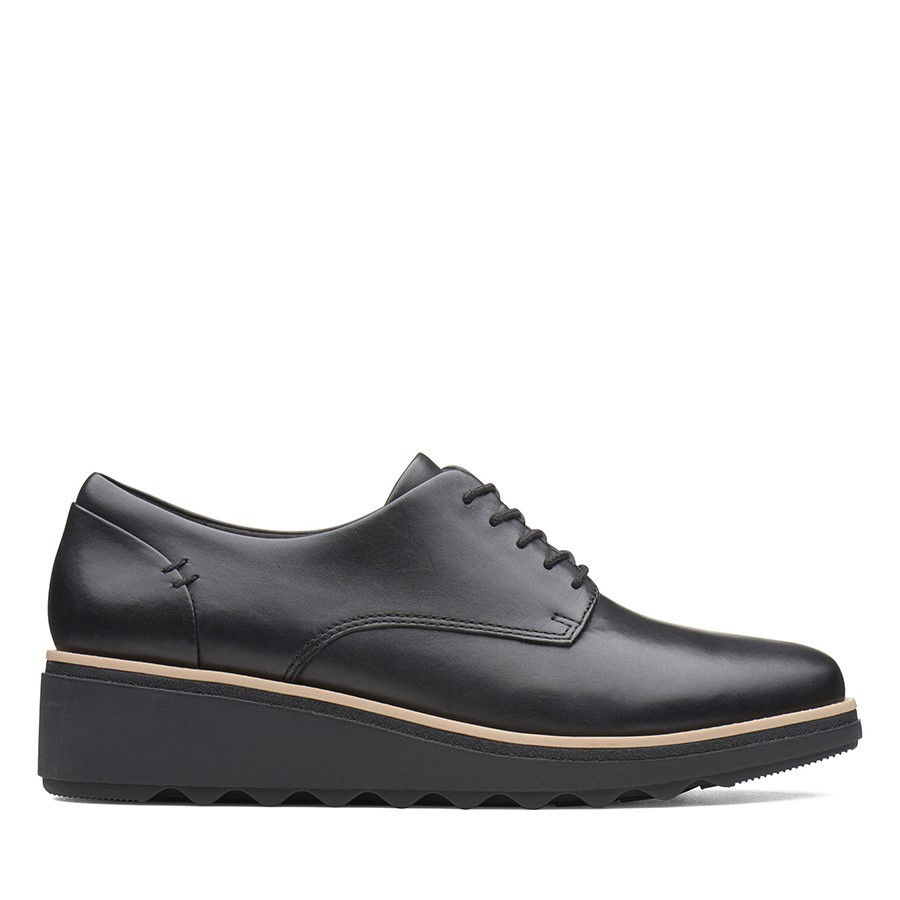 Clarks Sharon Noel Black Leather