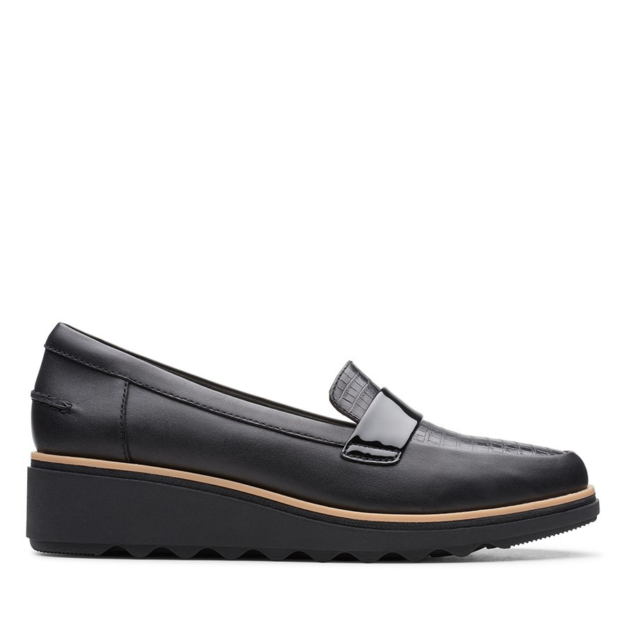 Clarks Sharon Gracie Black Leather