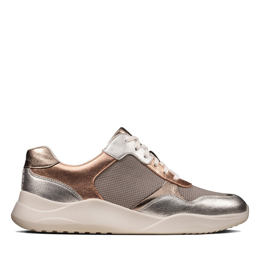 Clarks Sift Lace Rose Gold Metallic