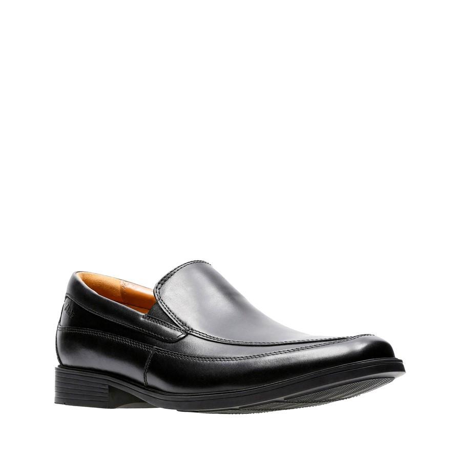 Clarks Tilden Free Black Leather