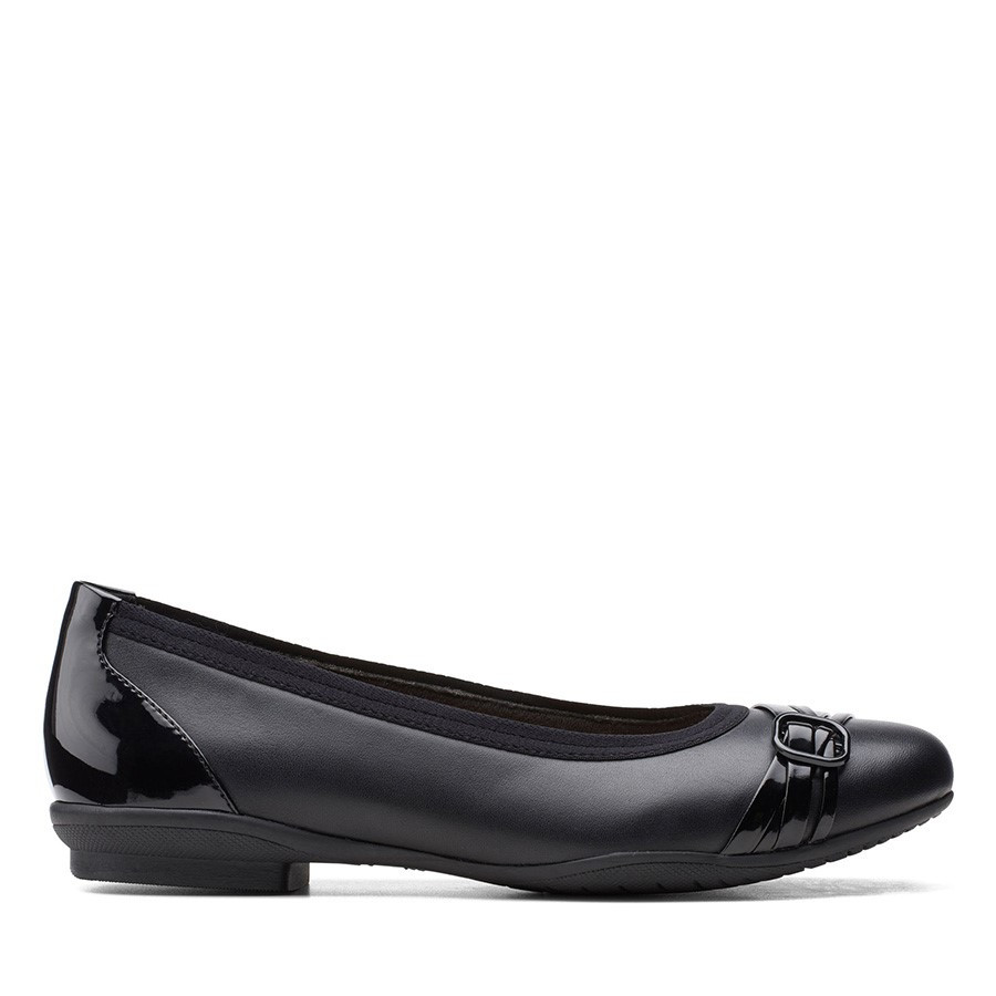 Clarks Sara Tulip Black Combo Leather