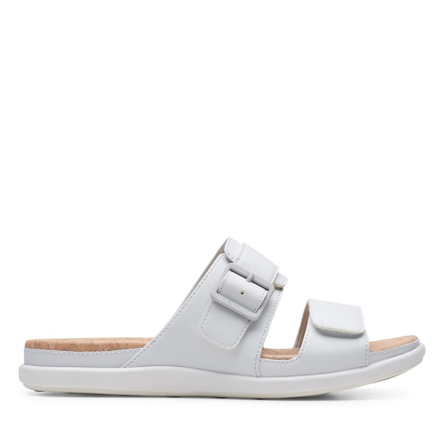 Clarks Step June Sun White Synthetic