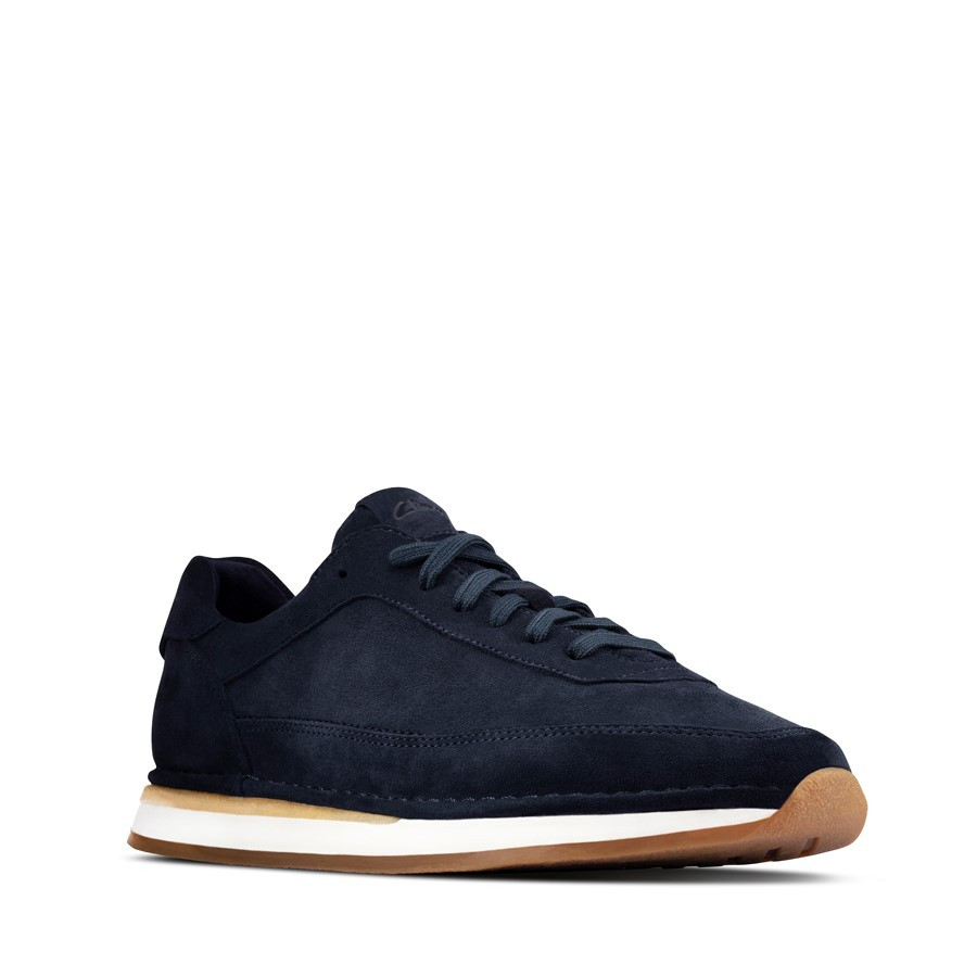 Clarks Craftrun Lace Mens Navy Suede