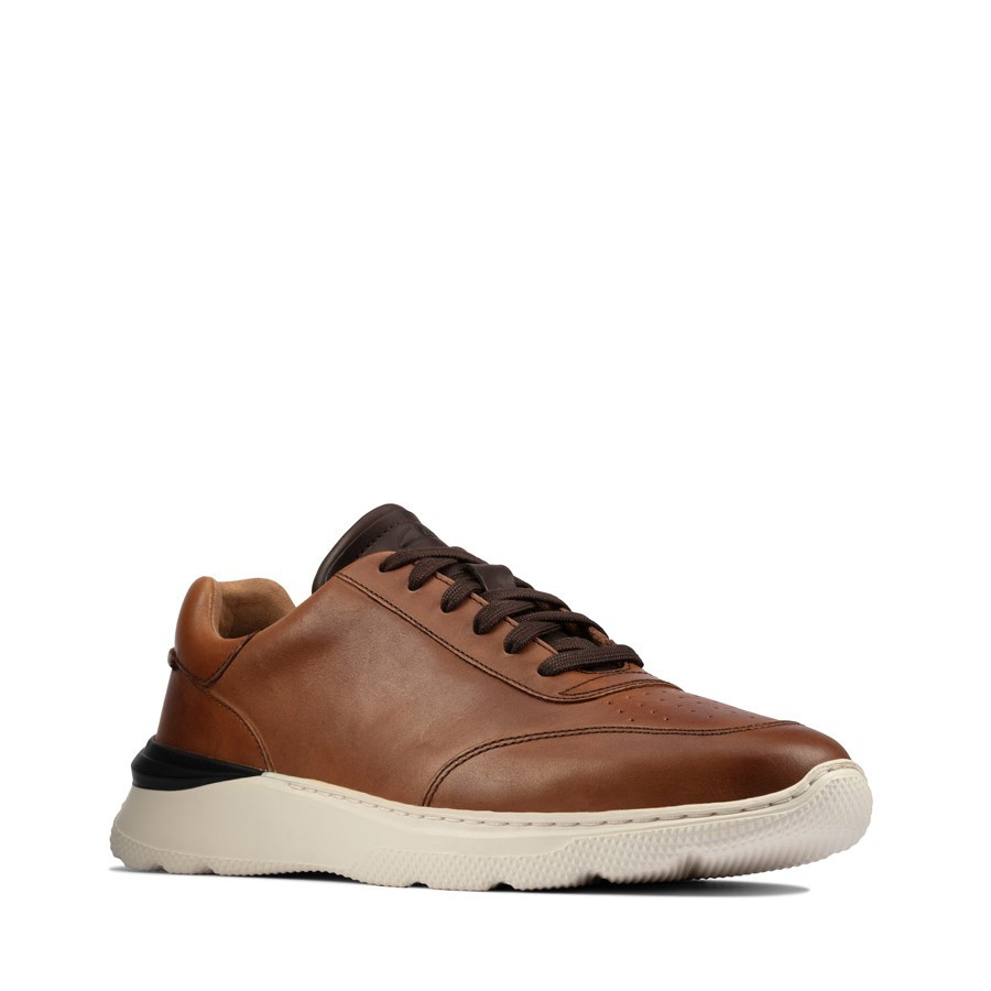 Clarks Sprintlite Lace Mens Tan Leather