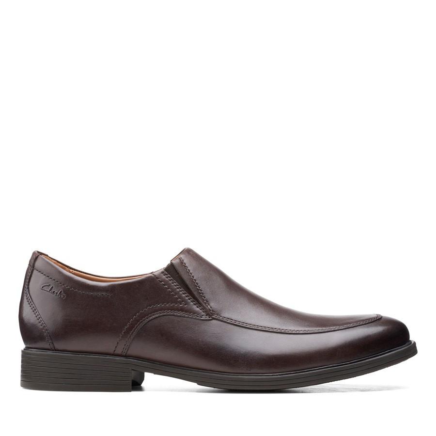 Clarks Whiddon Step Dark Brown Leather