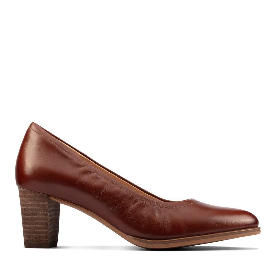 Clarks Kaylin60 Flex Tan Leather