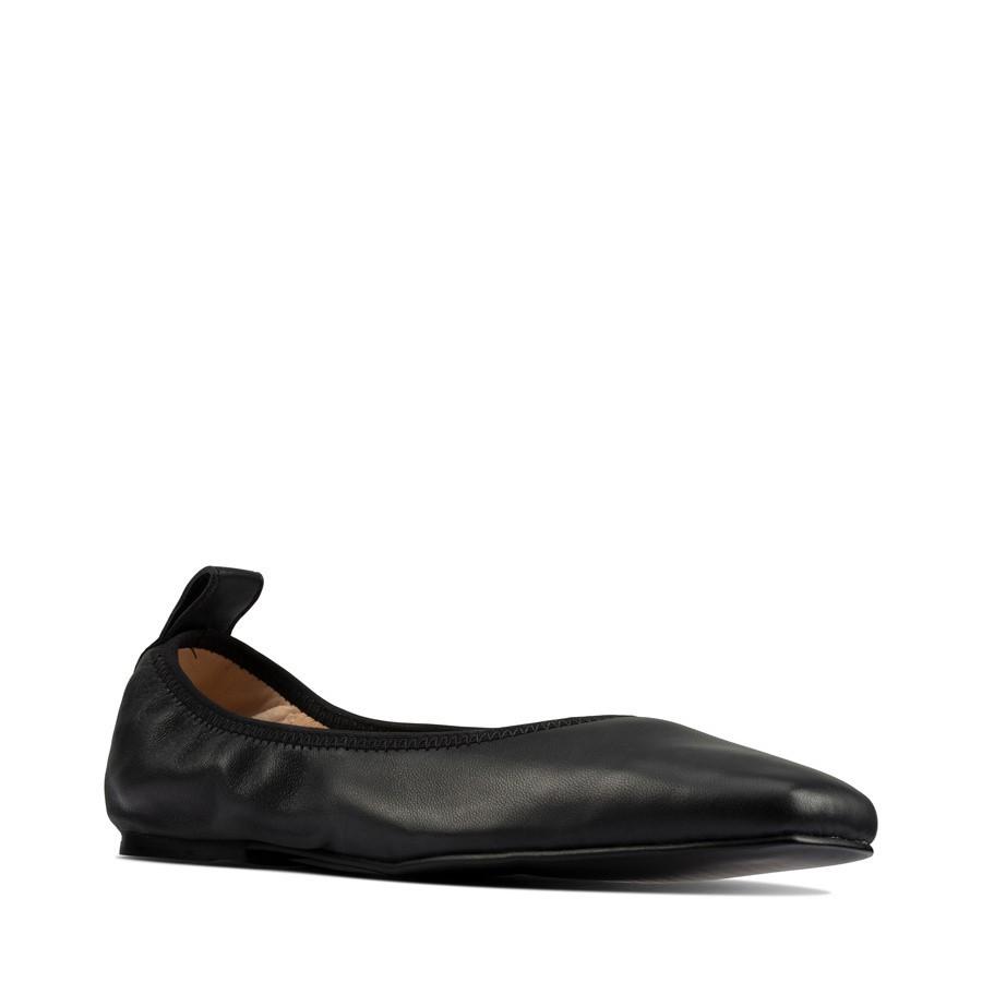 Clarks Pure Ballet Black Leather