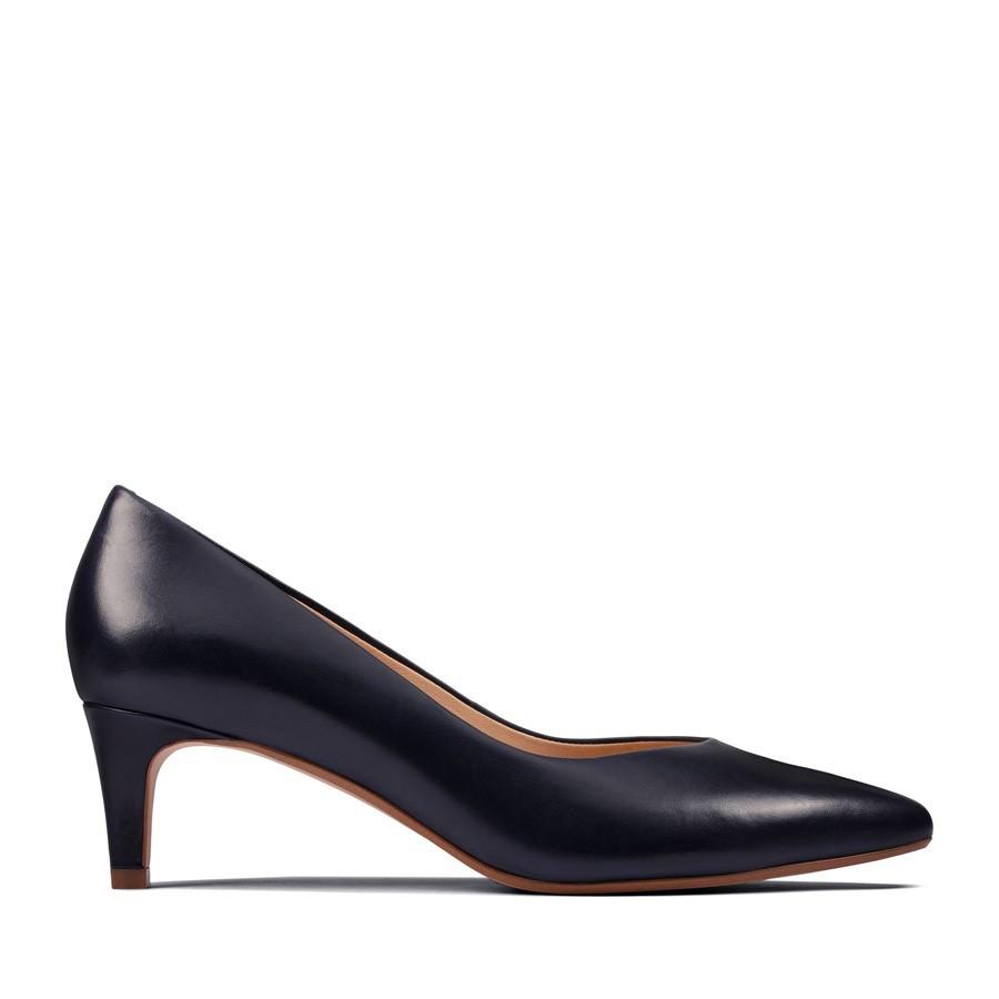 Clarks Laina55 Court2 Navy Leather