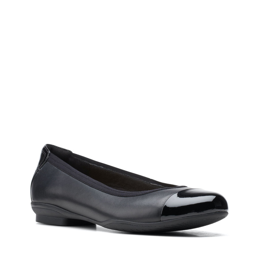 Clarks Sara Orchid Black Combo Leather