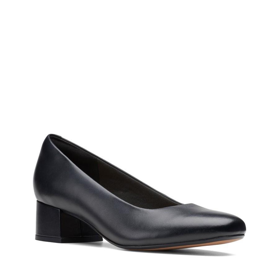 Clarks Marilyn Leah Black Leather