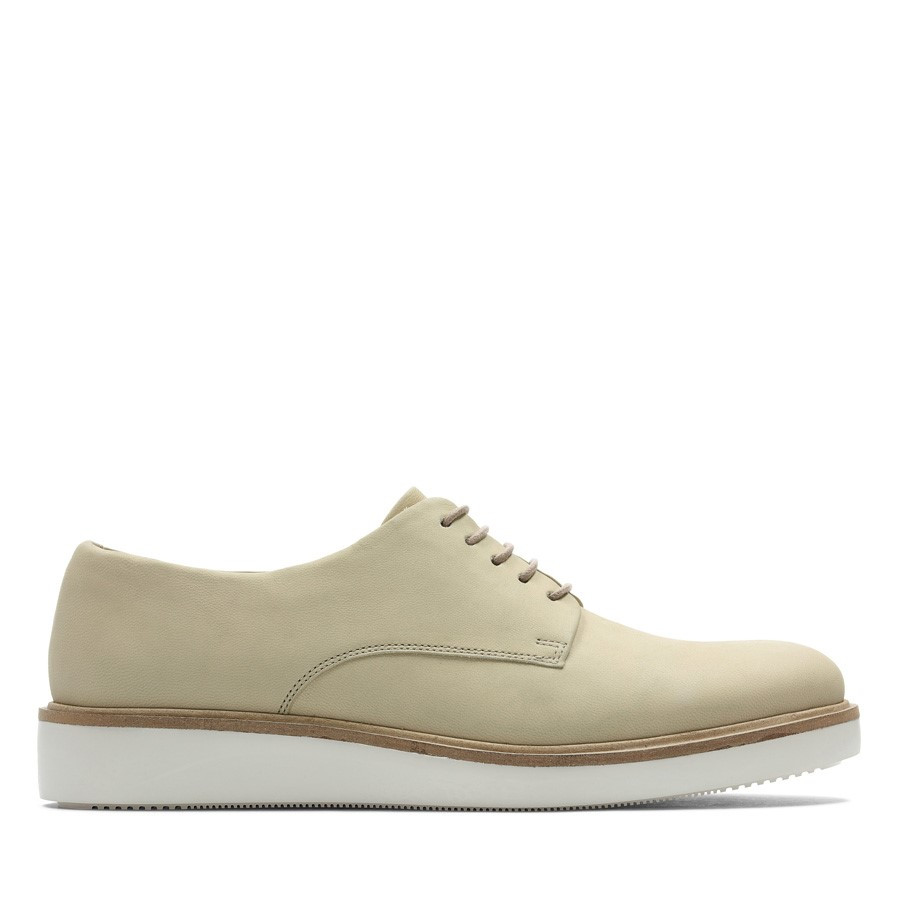 Clarks Baille Stitch Taupe Suede