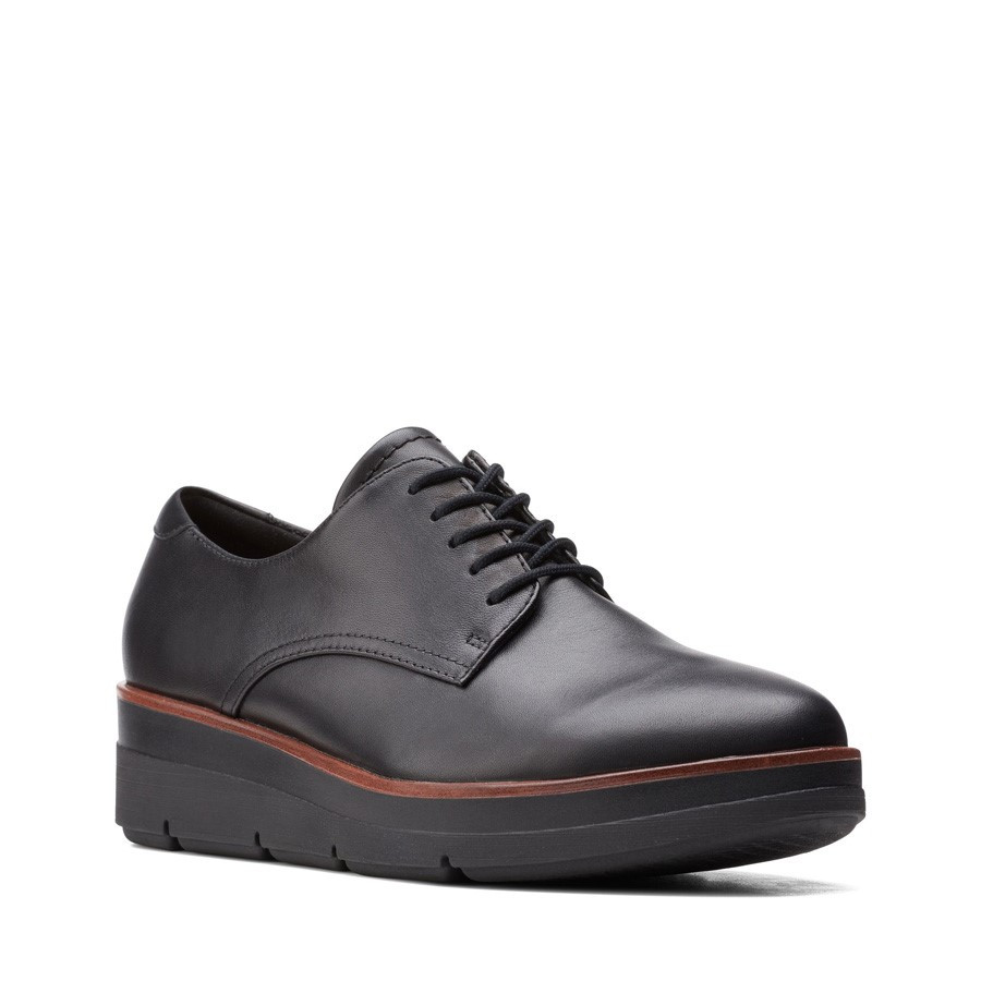 Clarks Shaylin Lace Black Leather