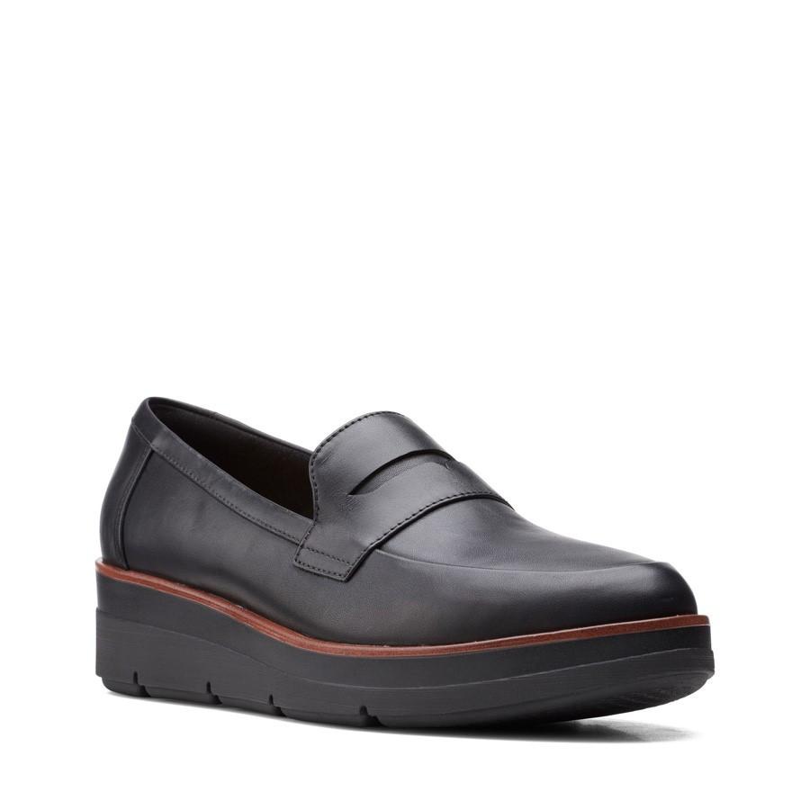 Clarks Shaylin Step Black Leather