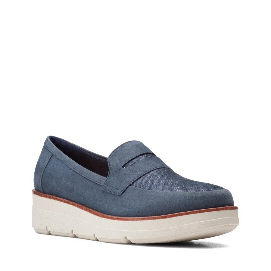 Clarks Shaylin Step Navy Combo Suede