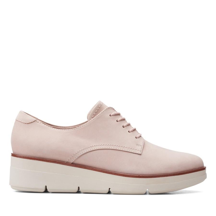 Clarks Shaylin Lace Dusty Pink Nubuck