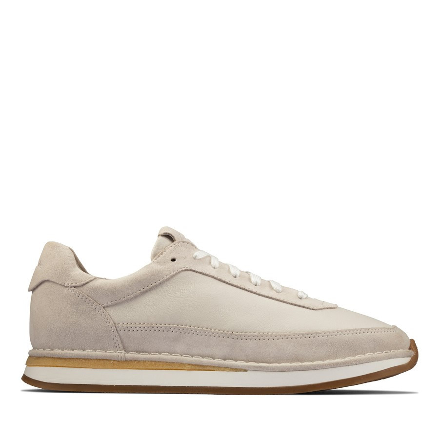 Clarks Craftrun Lace Mens White Combo