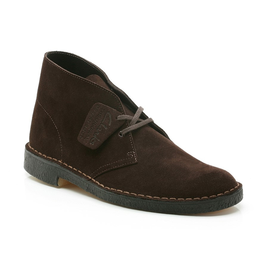 Clarks Desertboot Mens Brown Suede