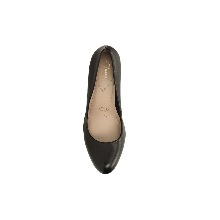 Clarks Carlita Cove Black Leather