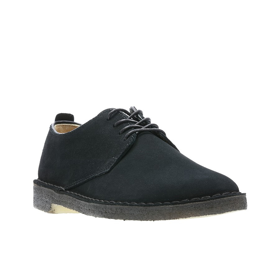 Clarks Desert London (M) Black Suede