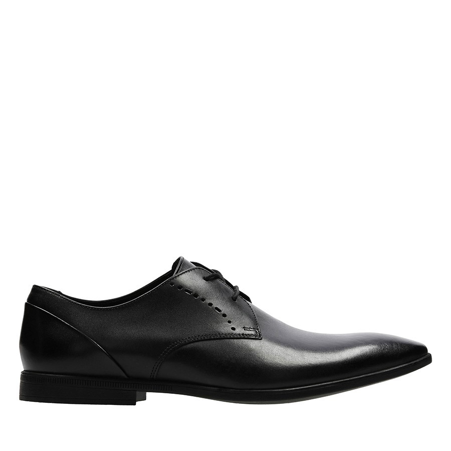 Clarks Bampton Lace Black Leather