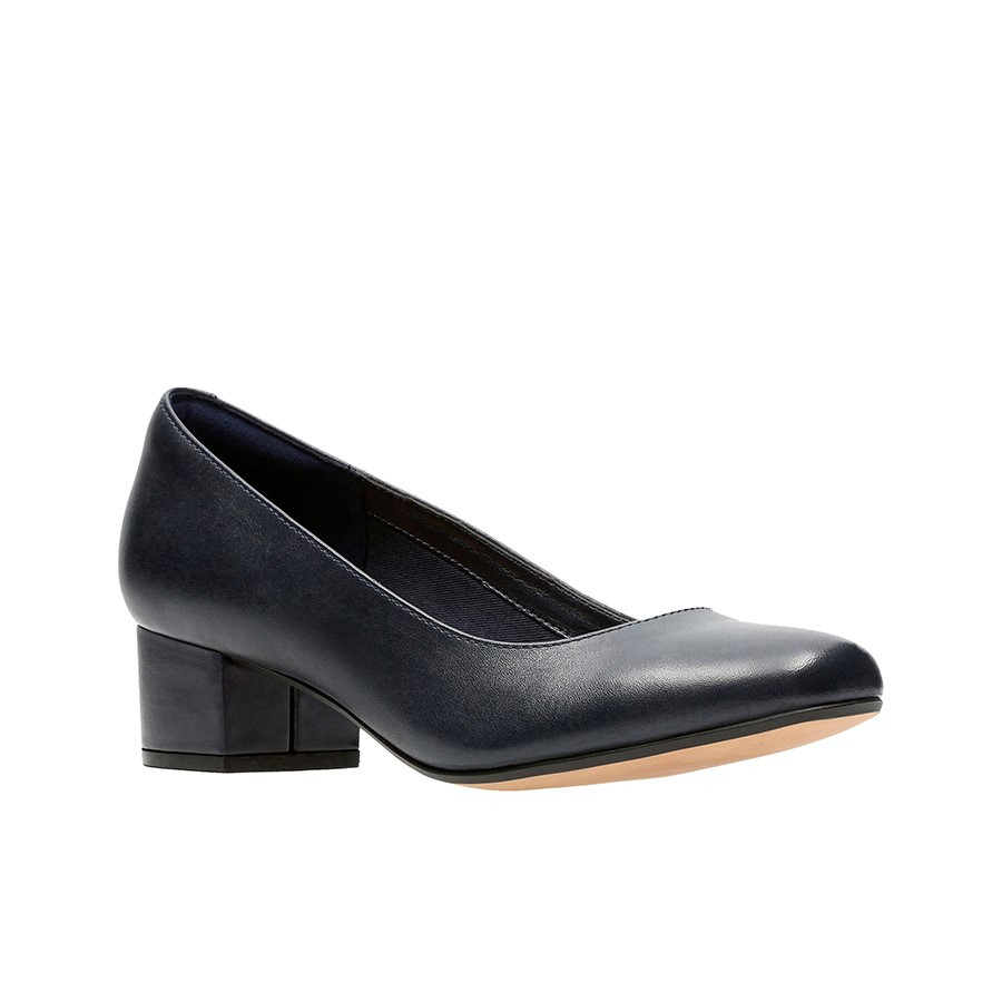 Clarks Chartli Rose Navy Leather