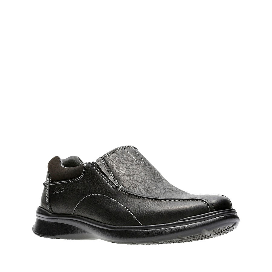 Clarks Cotrell Step Black Oily Leather