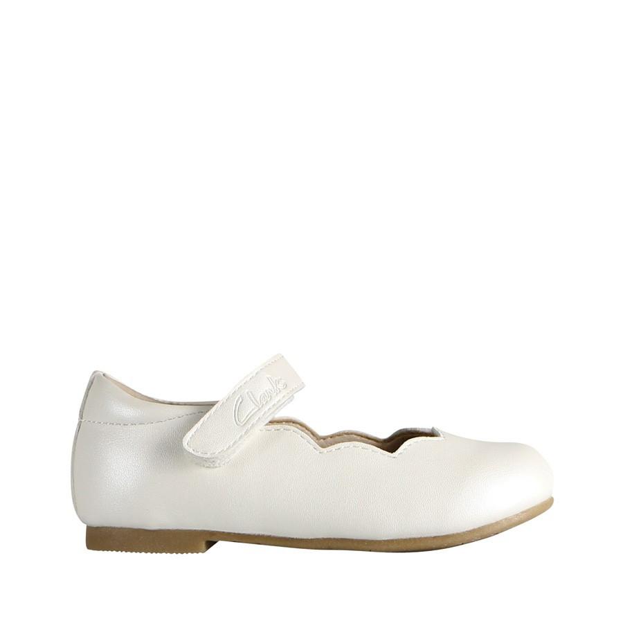 Clarks Audrey Jnr White Pearl
