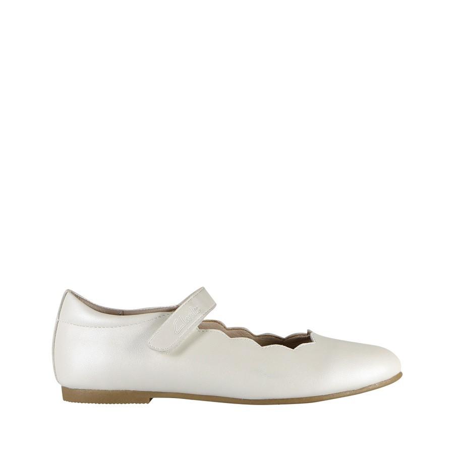 Clarks Audrey Snr White Pearl