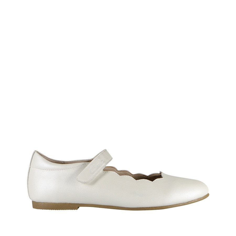 Clarks Audrey Snr White Pearl