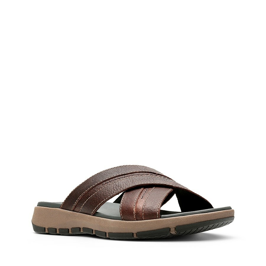 Clarks Brixby Cross Dark Brown Leather