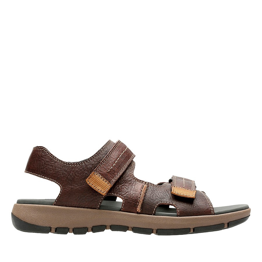 Clarks Brixby Shore Dark Brown Leather