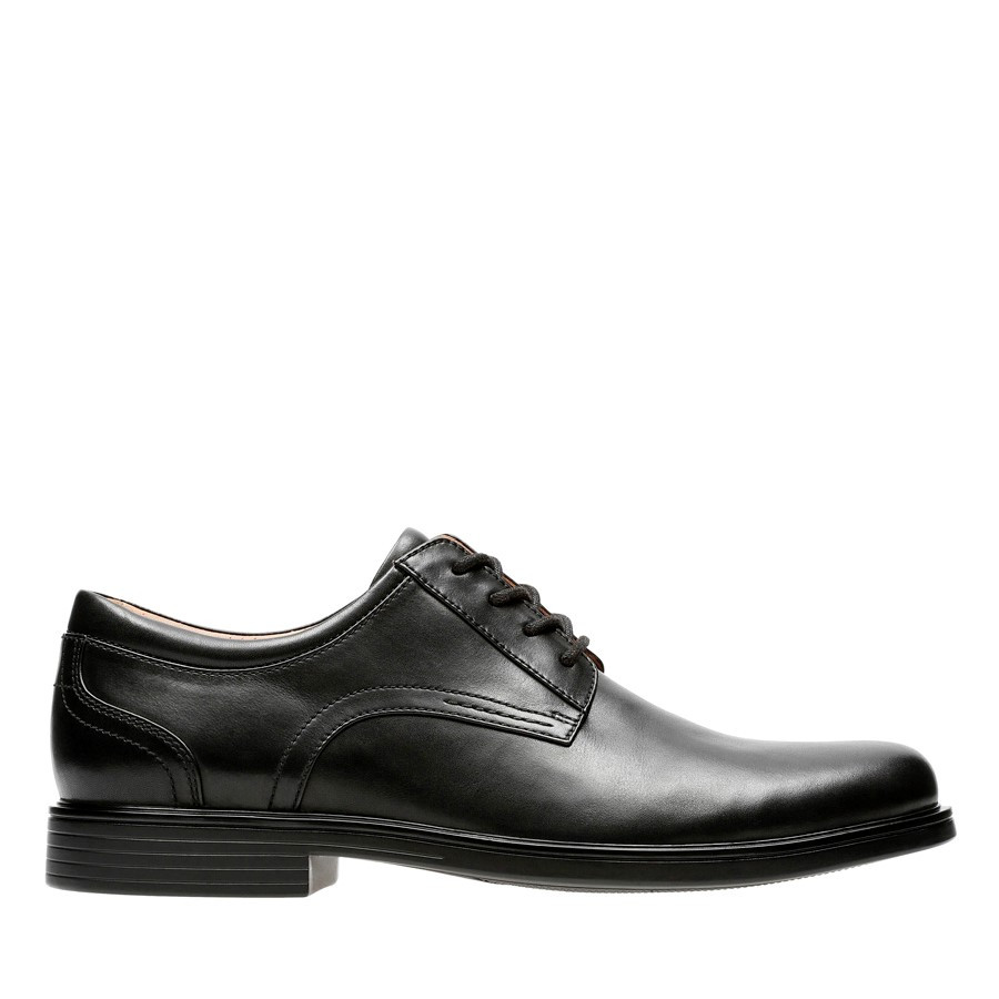 Clarks Un Aldric Lace Black Leather