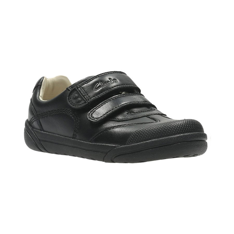 Clarks Lilfolk Zoo Inf Black Leather