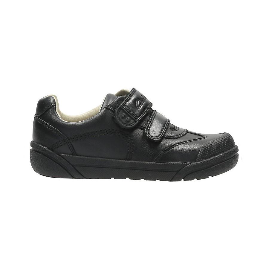 Clarks Lilfolk Zoo Inf Black Leather