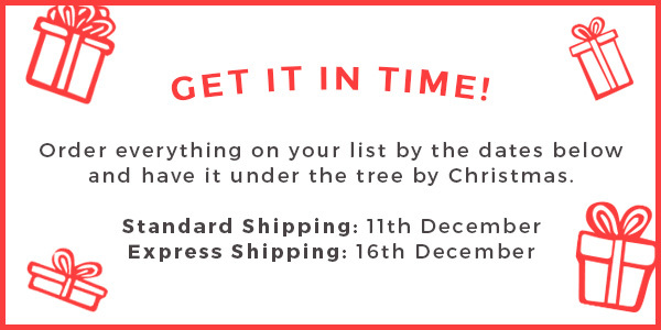 Christmas Shipping cut off times