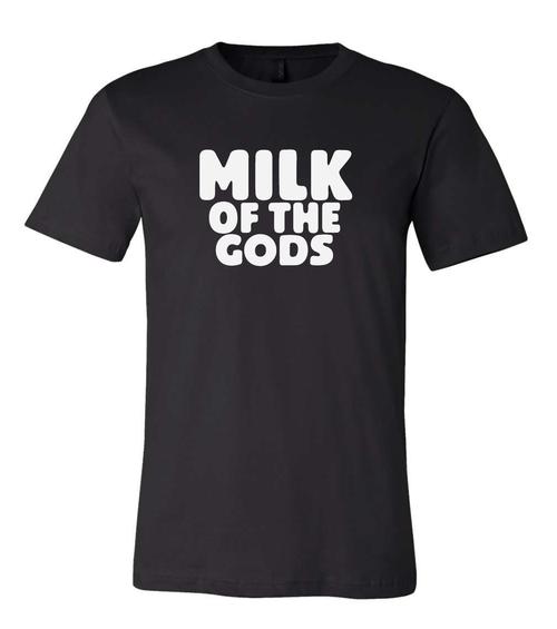 Milk of the Gods Black Crewneck Tee