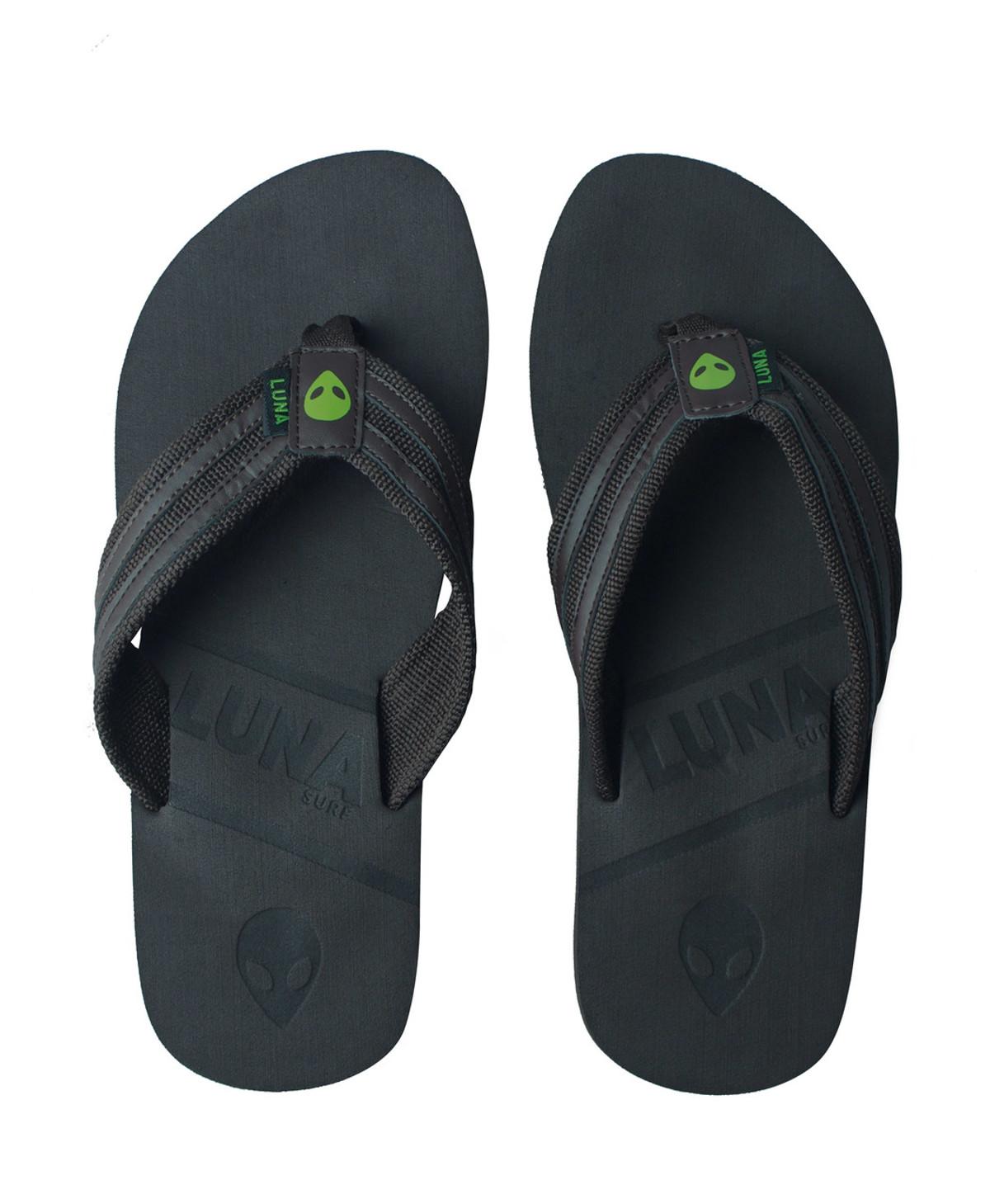 66111c209d434 Lunasurf Flip Flops Brown Green