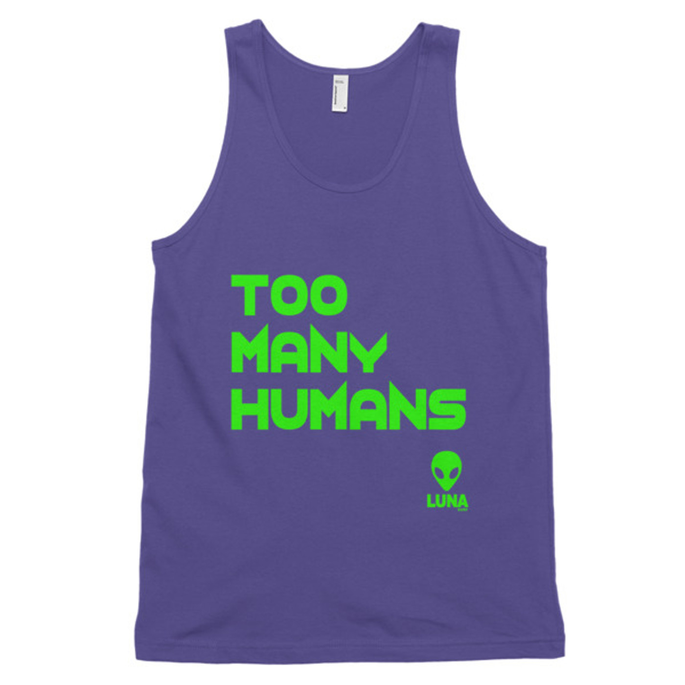 Too Many Humans Classic tank top (unisex)