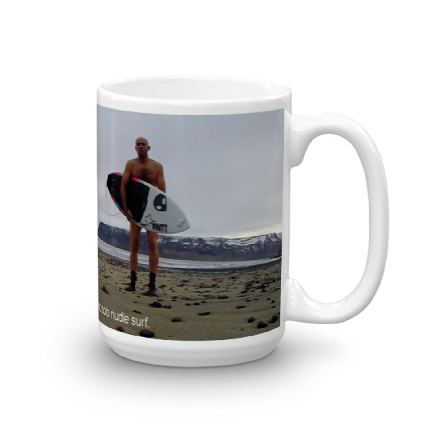 Batty Icelandic Winter Nudie Surf Mug