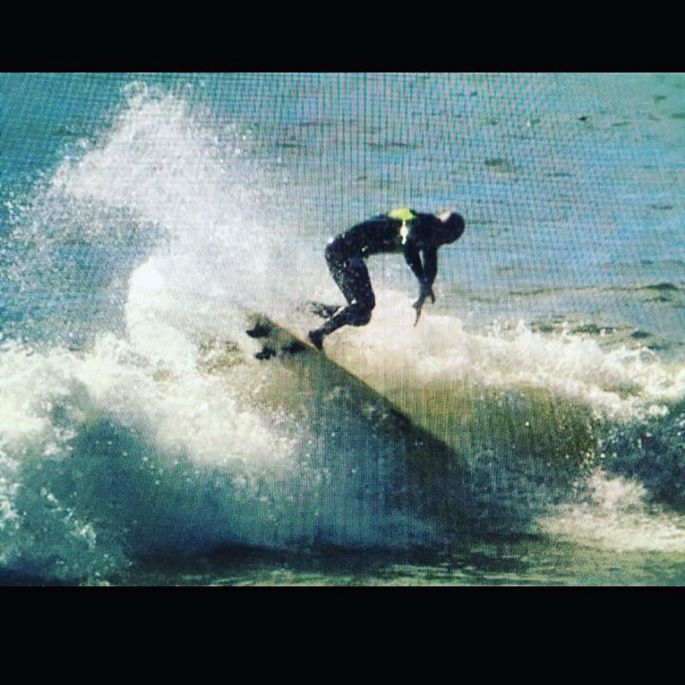 Zoltan Torkos hit the lip shove it riding the Lunasurf thruster fin.