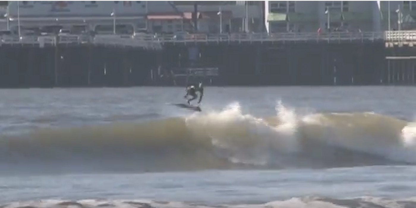 Zoltan Torkos Lunasurf thruster Santa Cruz surfing kickflip