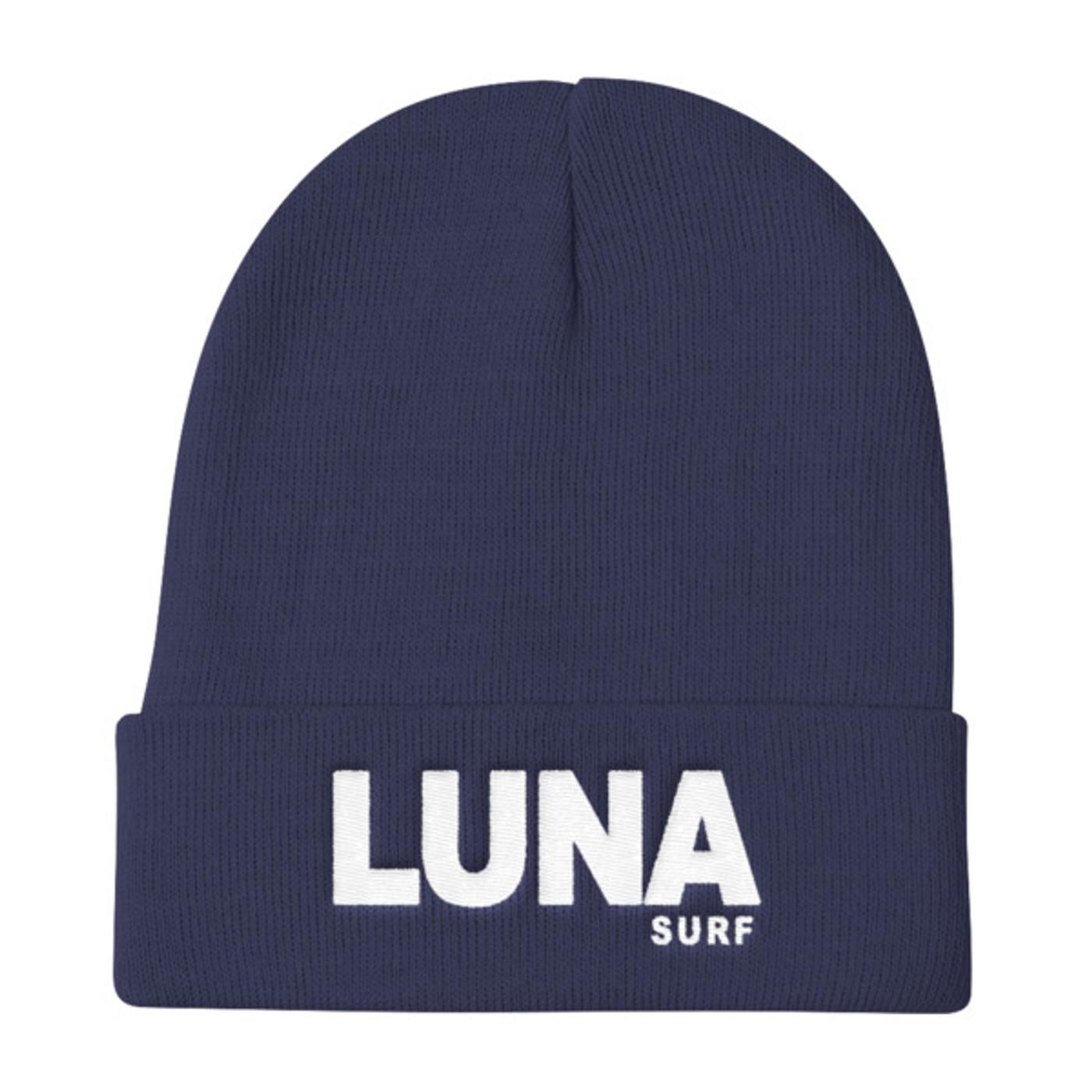 Luna logo White Knit Beanie