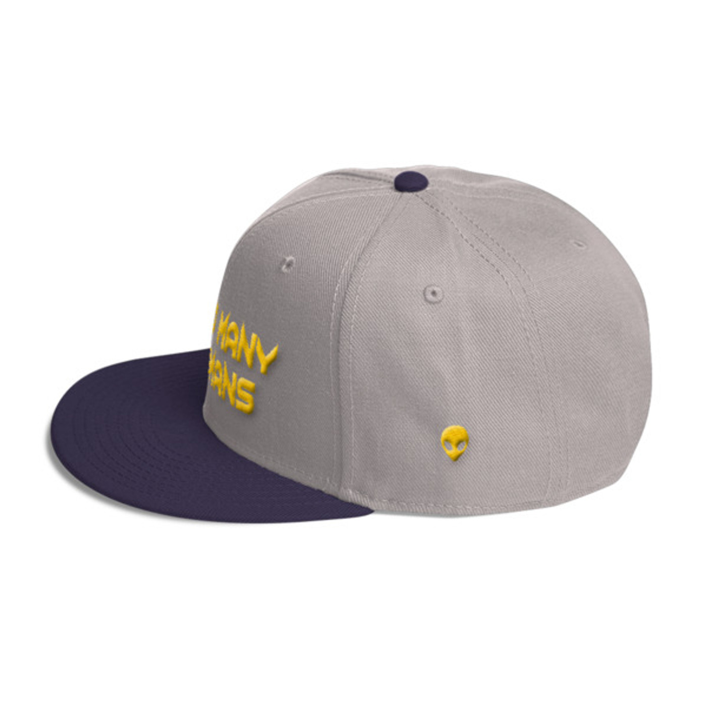 Too Many Humans Gold Wool Blend Snapback